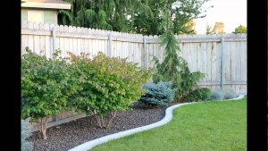 Edging around landscaping features
